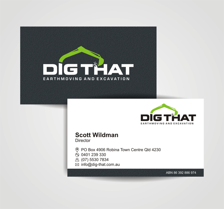 Exciting fresh and unique logo and business card for dig that exciting fresh and unique logo and business card for dig that excavation co reheart Image collections
