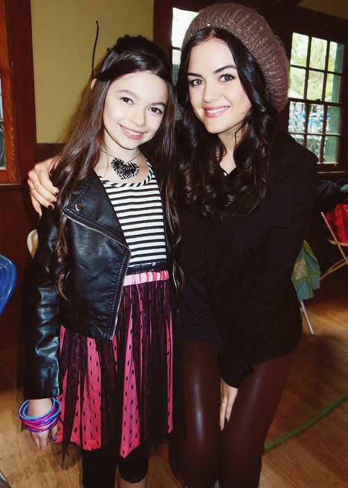Lucy Hale And Mini Aria With Images Pretty Little Liars