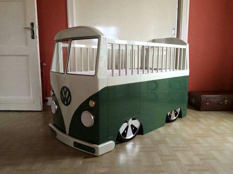 vw crib for the home pinterest kinderzimmer liebe und einfach. Black Bedroom Furniture Sets. Home Design Ideas