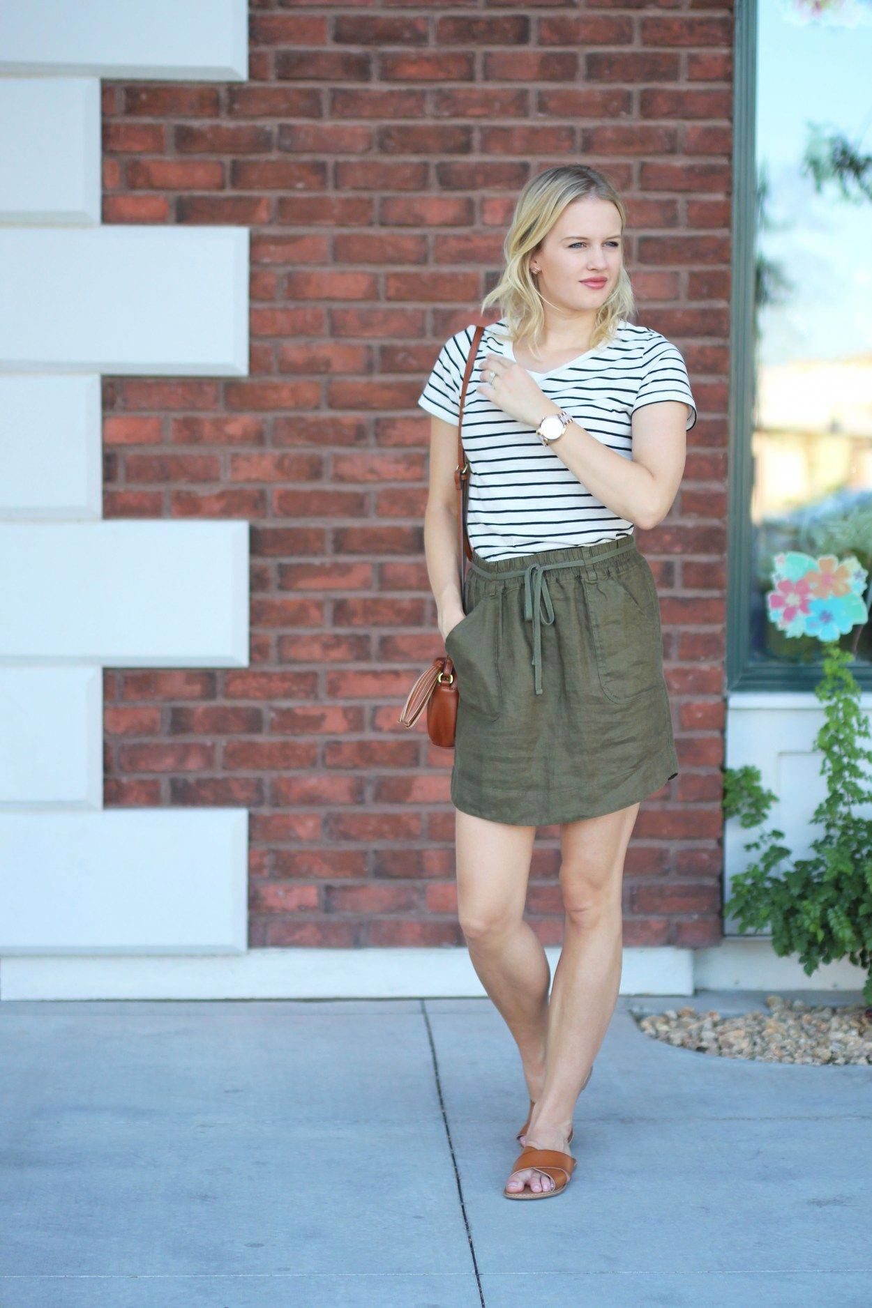 2b34beb9fea9 Simple summer outfit  Striped T-shirt