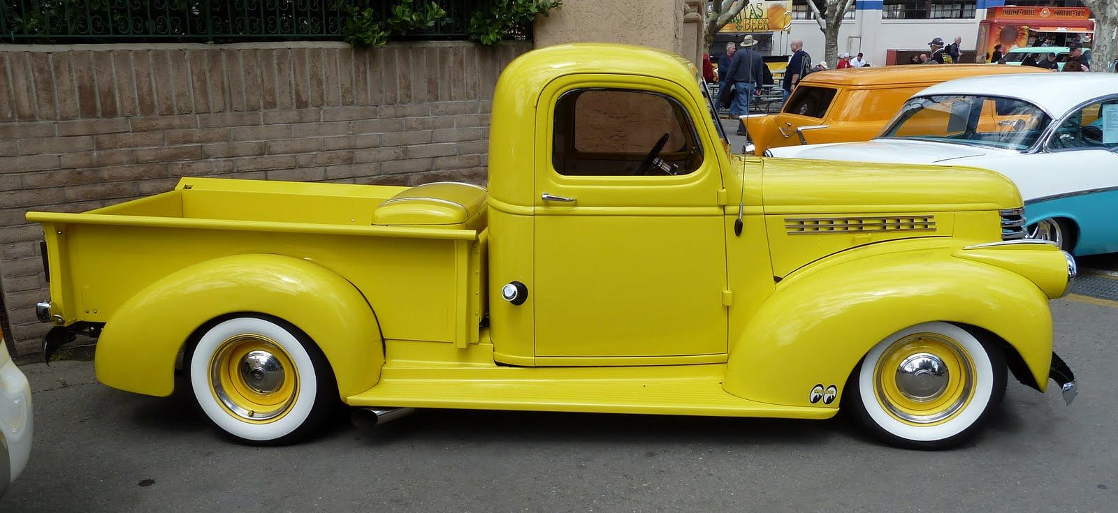 1946 Chevy Truck Yellow Fender | classic truck | Pinterest | Chevy ...