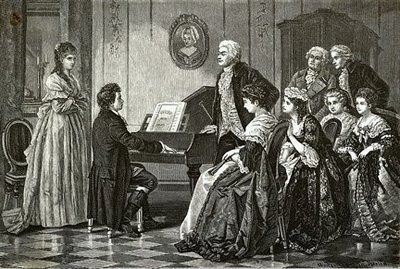 The young Beethoven (age 16) met and played for Mozart in 1787 in