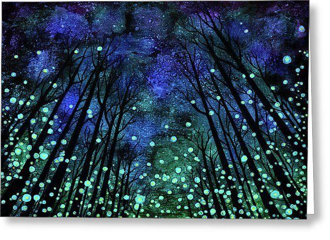 Magical Summer Nights Greeting Card By Jennifer Allison