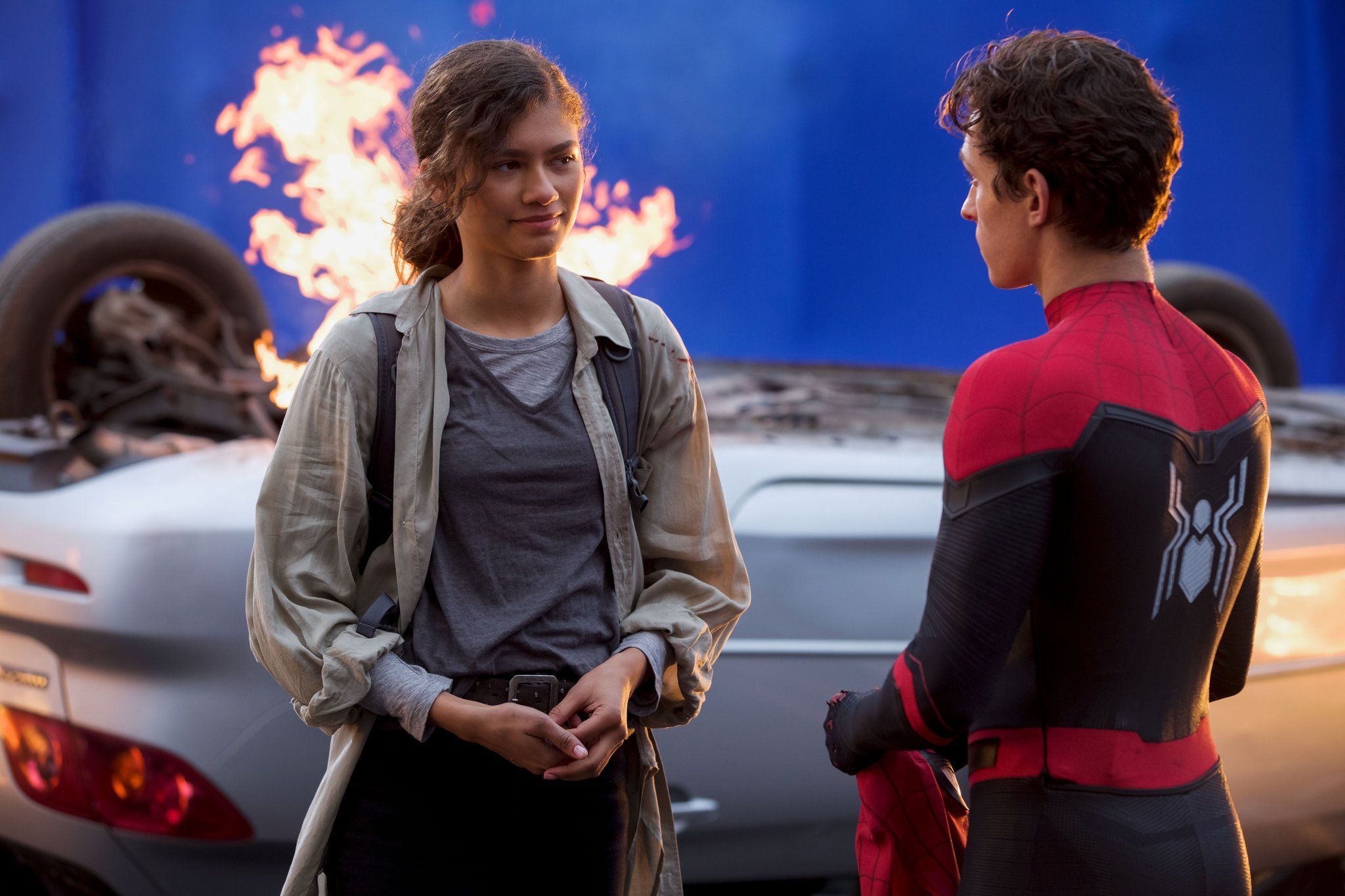 A New Photo From Behind The Scenes Of Spider Man Far From Home
