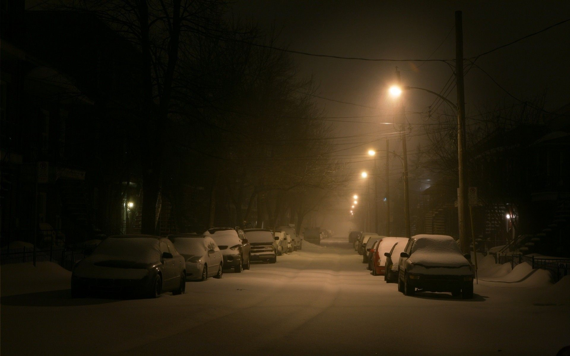 Montreal Street At Night Http Ift Tt 2dla32o Winter Images