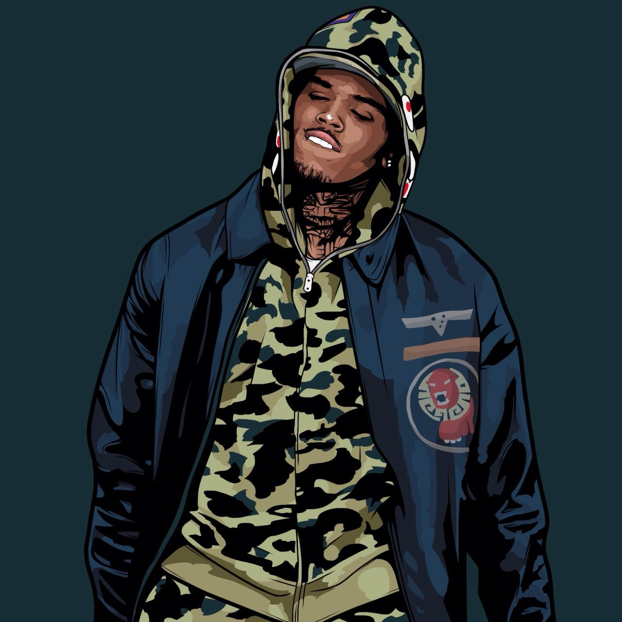 Pin by Kaevi💗 on Wallpaper♥️ Chris brown art
