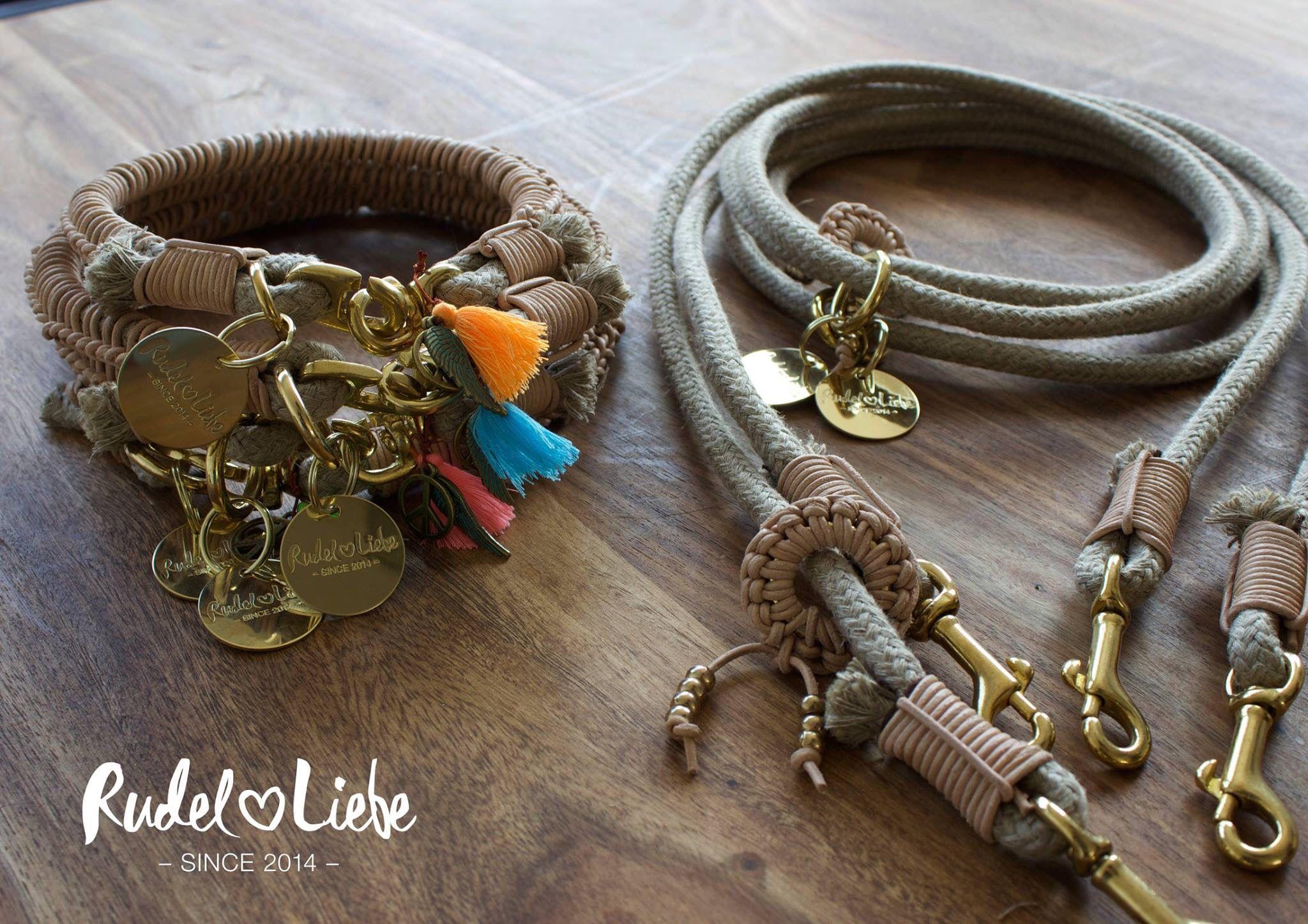 IBIZA MOON Pocket Leine MOON und Halsband IBIZA aus Hanf mit ...