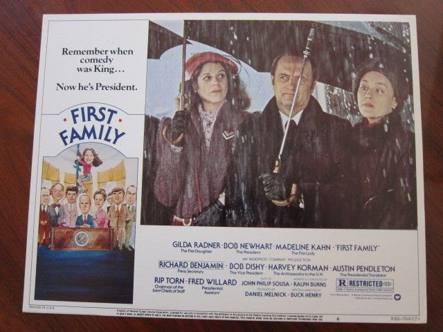 FIRST FAMILY Lobby card AUTOGRAPHED by BOB NEWHART