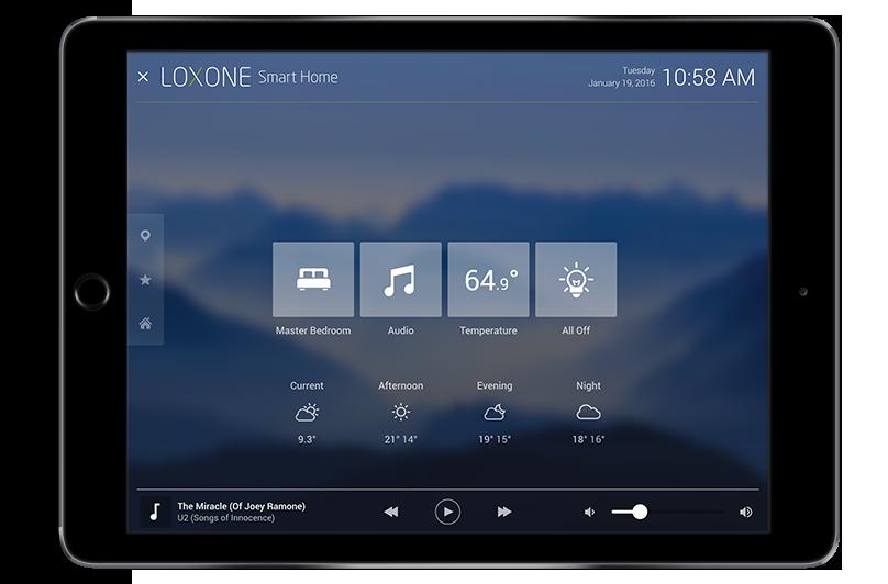 The Loxone Smart Home App Smart home, Smart home design
