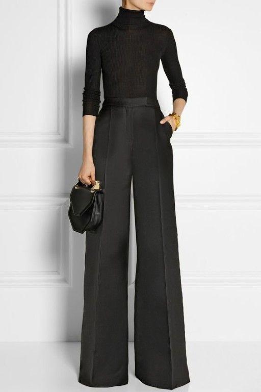 Stilo Pantalones De Talle Alto Rectos Y El Estilo Palazzo Pantalones De Moda Ropa De Moda Moda