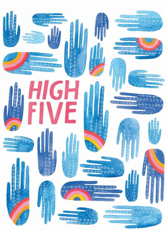 High five greeting card lisa illustrations and prints high five greeting card m4hsunfo
