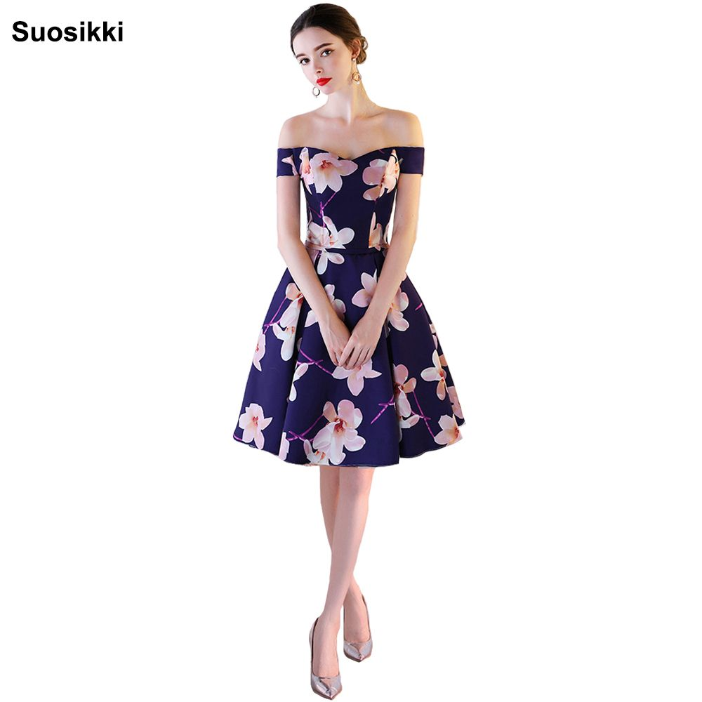 Click to buy ucuc prom dress floral print vestidos wedding party