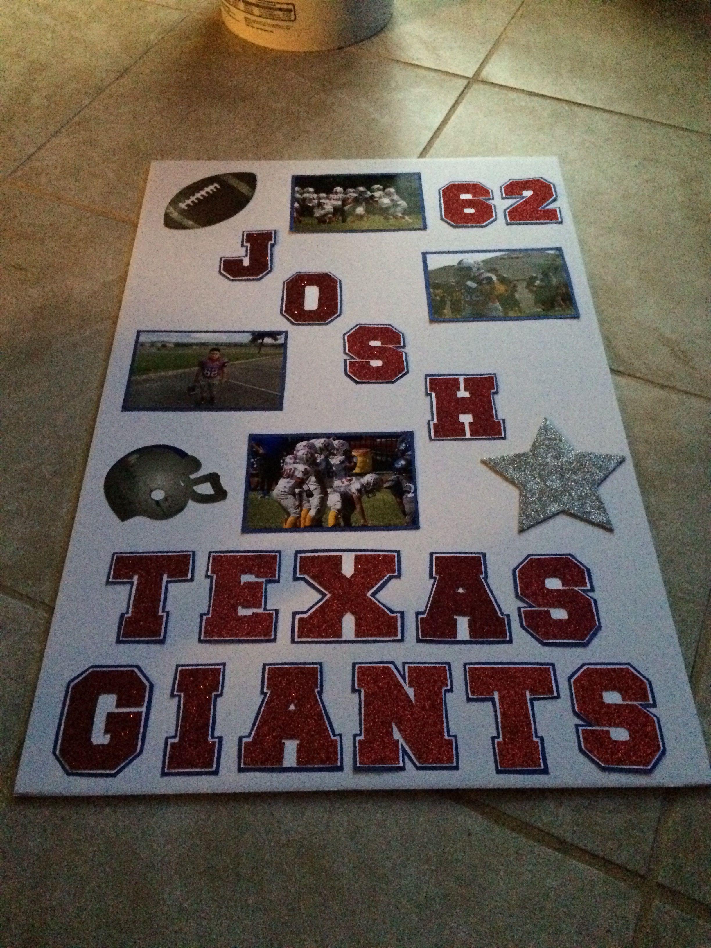 Homecoming Poster Peewee Football Little Giants Texas Giants Homecoming Posters Homecoming Poster Ideas Senior Night Gifts Football