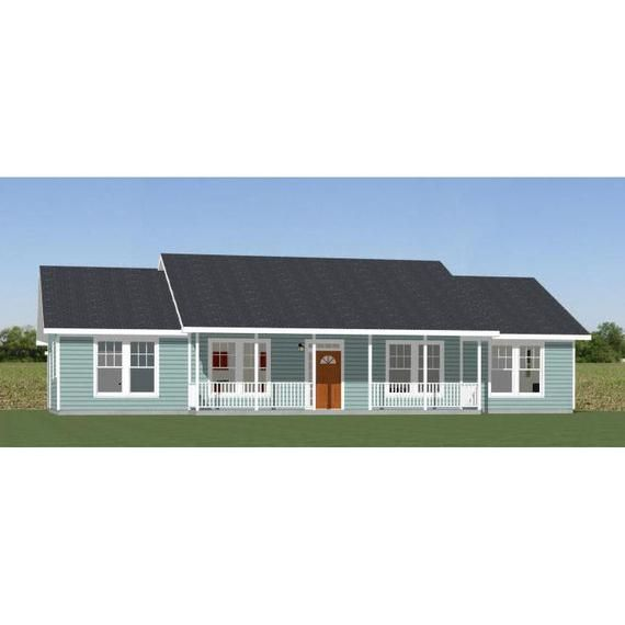 60x30 House -- 4-Bedroom 3-Bath -- 1,800 Sq Ft -- PDF