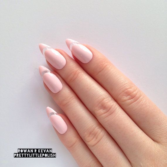 pastel pink cut out stiletto nails pink stiletto nails