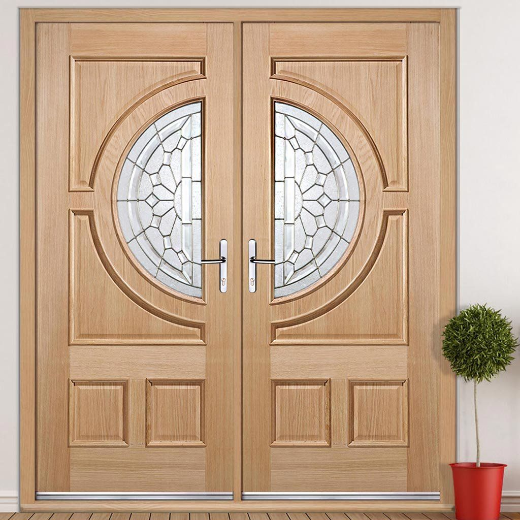 Empress External Oak Door Pair with Zinc Bevel Clear Tri Glazing  sc 1 st  Pinterest & Empress External Oak Door Pair with Zinc Bevel Clear Tri Glazing ...