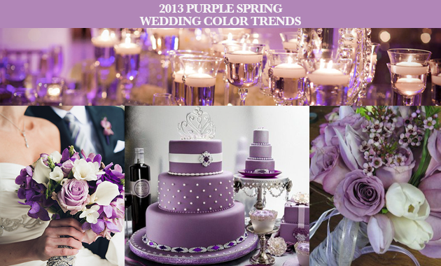 2013 purple spring wedding color trends trending for weddings purple is trending for spring 2013 weddings this post is filled with purple spring wedding ideas and inspirations flowers invitations decor and more junglespirit Image collections