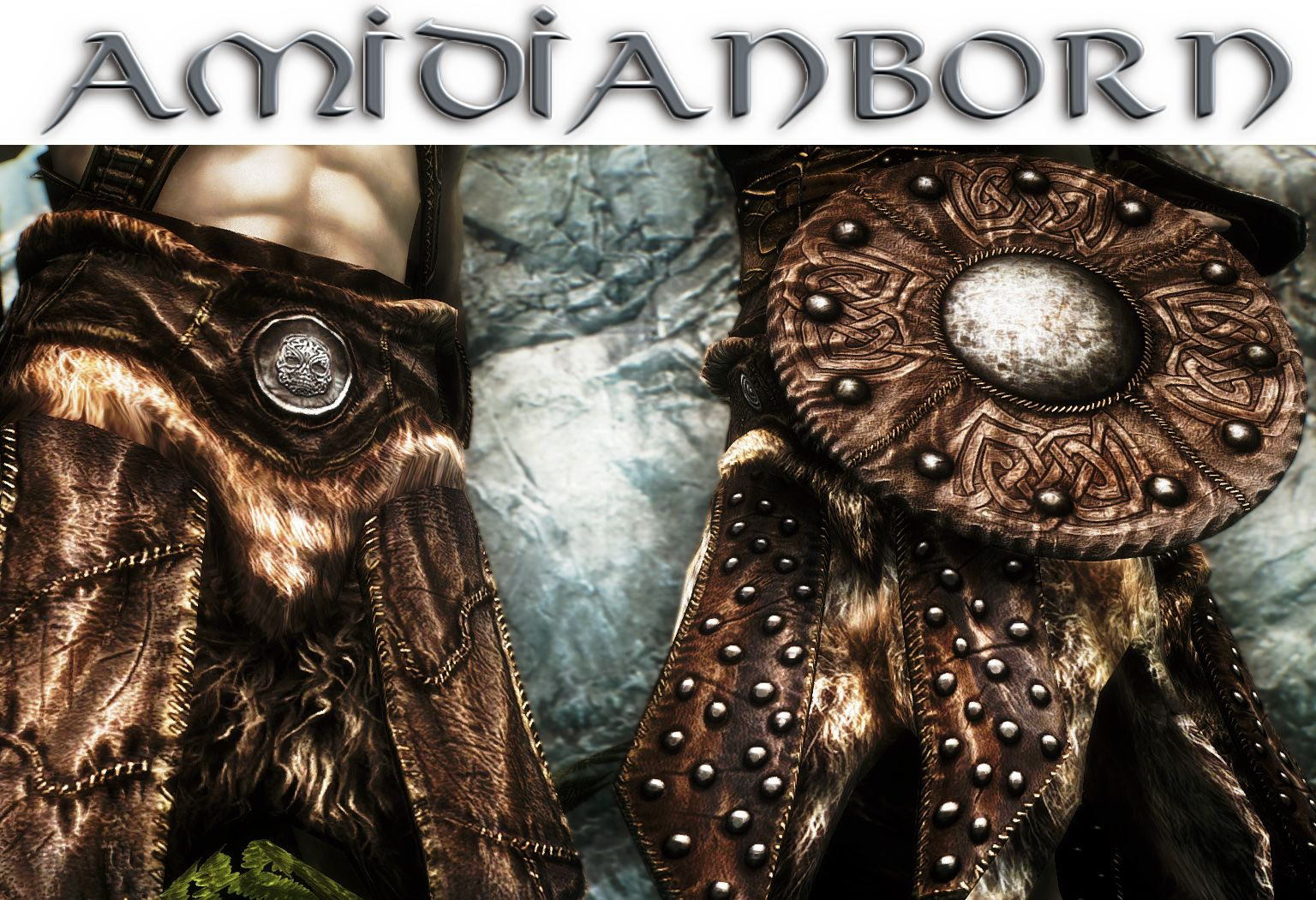 aMidianBorn Hide and Studded Hide