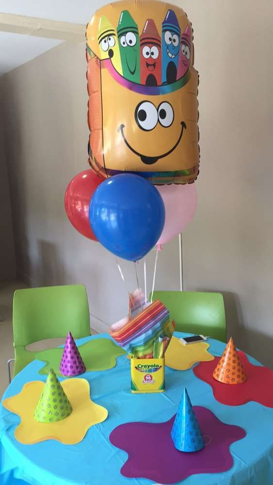crayola birthday theme birthday party ideas