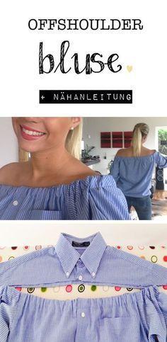 Offshoulder Bluse selbermachen - DIY mit Nähanleitung und Bildern #blousedesigns