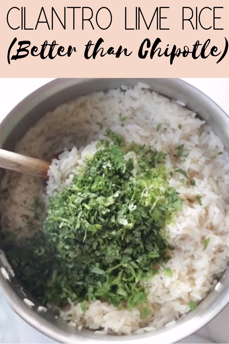 Cilantro Lime Rice (VIDEO) Better than Chipotle's