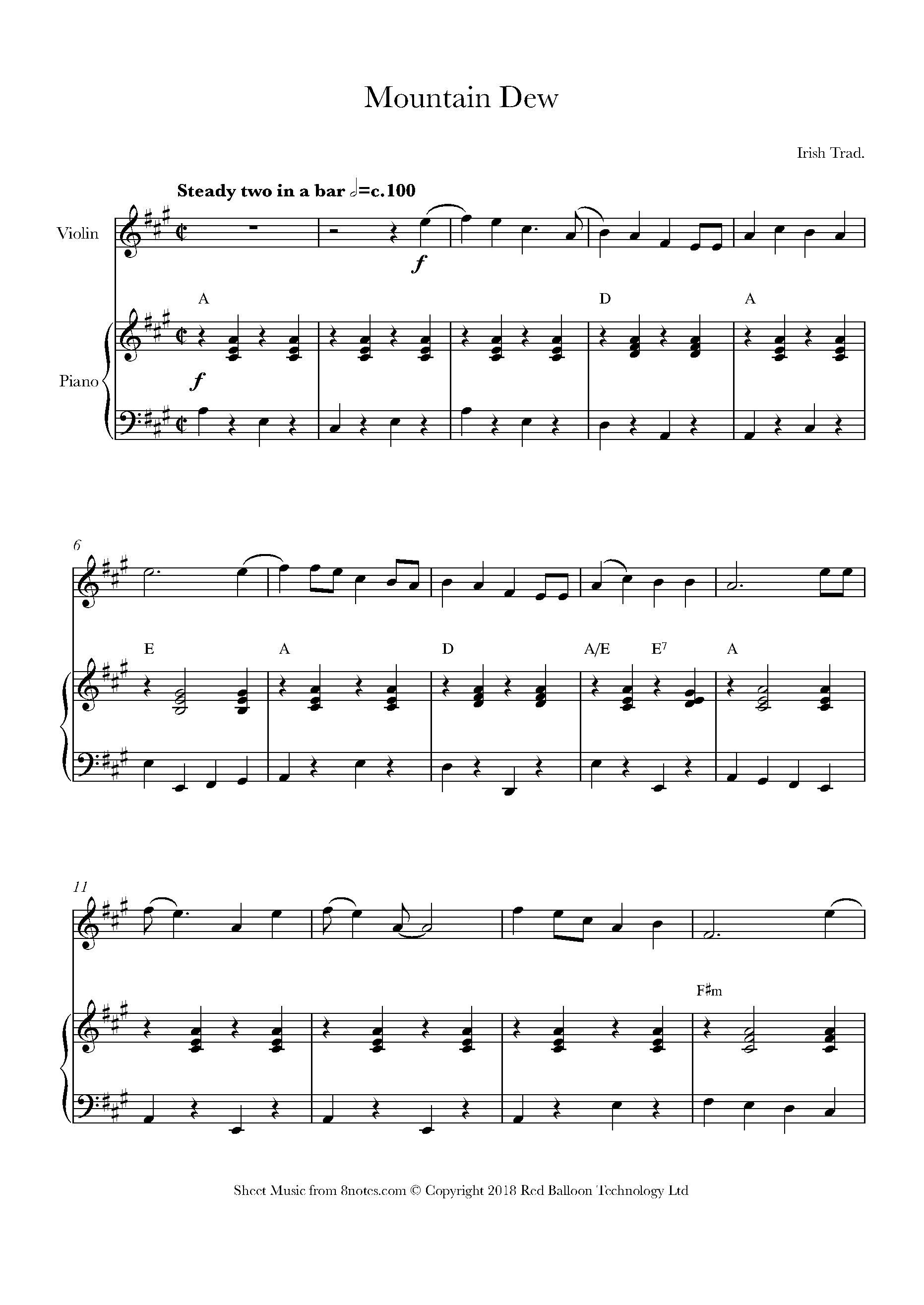 Rare Old Mountain Dew Sheet Music For Violin 8notes Com Sheet Music Free Violin Sheet Music Violin Sheet Music