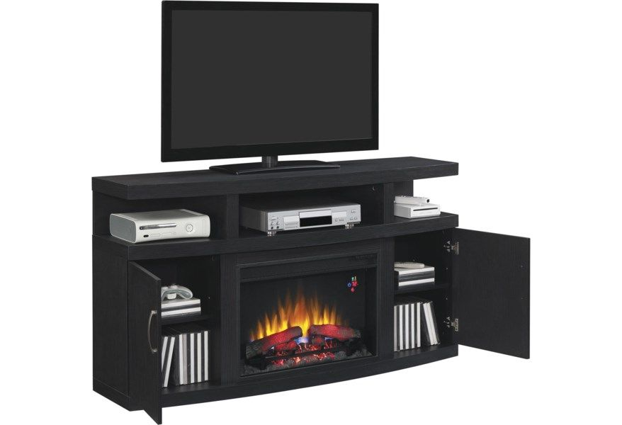 Cantilever Contemporary Tv Stand With Fireplace Insert And Electronic Storage By Classicflame In 2020 Tv Stand With Fireplace Insert Contemporary Tv Stands Fireplace Tv Stand