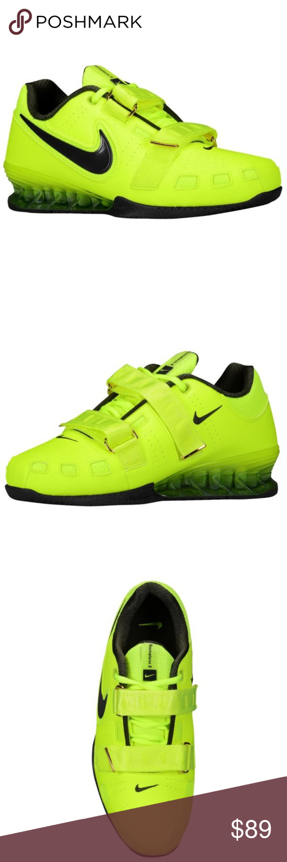 online store eadea de683 Nike Mens Romaleos II Weightlifting Shoes Volt 11 Nike Romaleos II Power  Lifting crossfit cross training