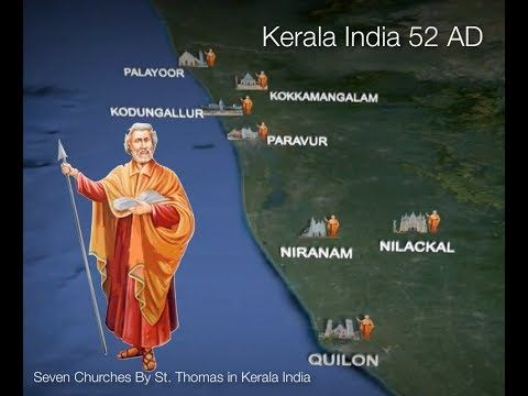 Seven Churches established by St  Thomas in Kerala India