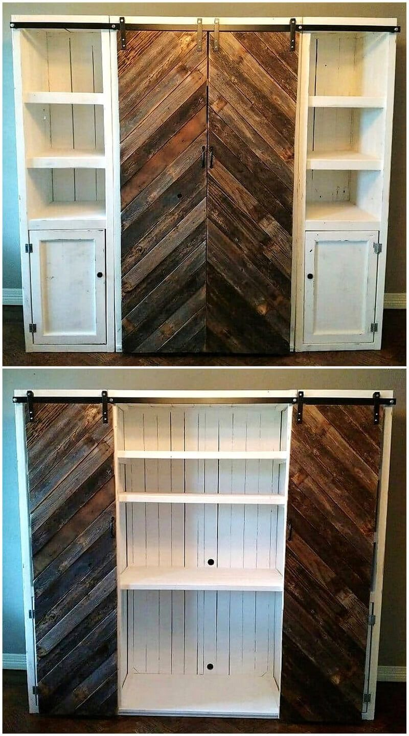 Creative Diy Ideas Using Wood Pallets At Home Pallet Closet