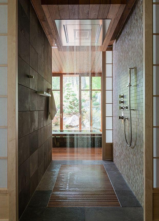 105 idées de design de la salle de bain de style moderne Bathroom - plafond salle de bain