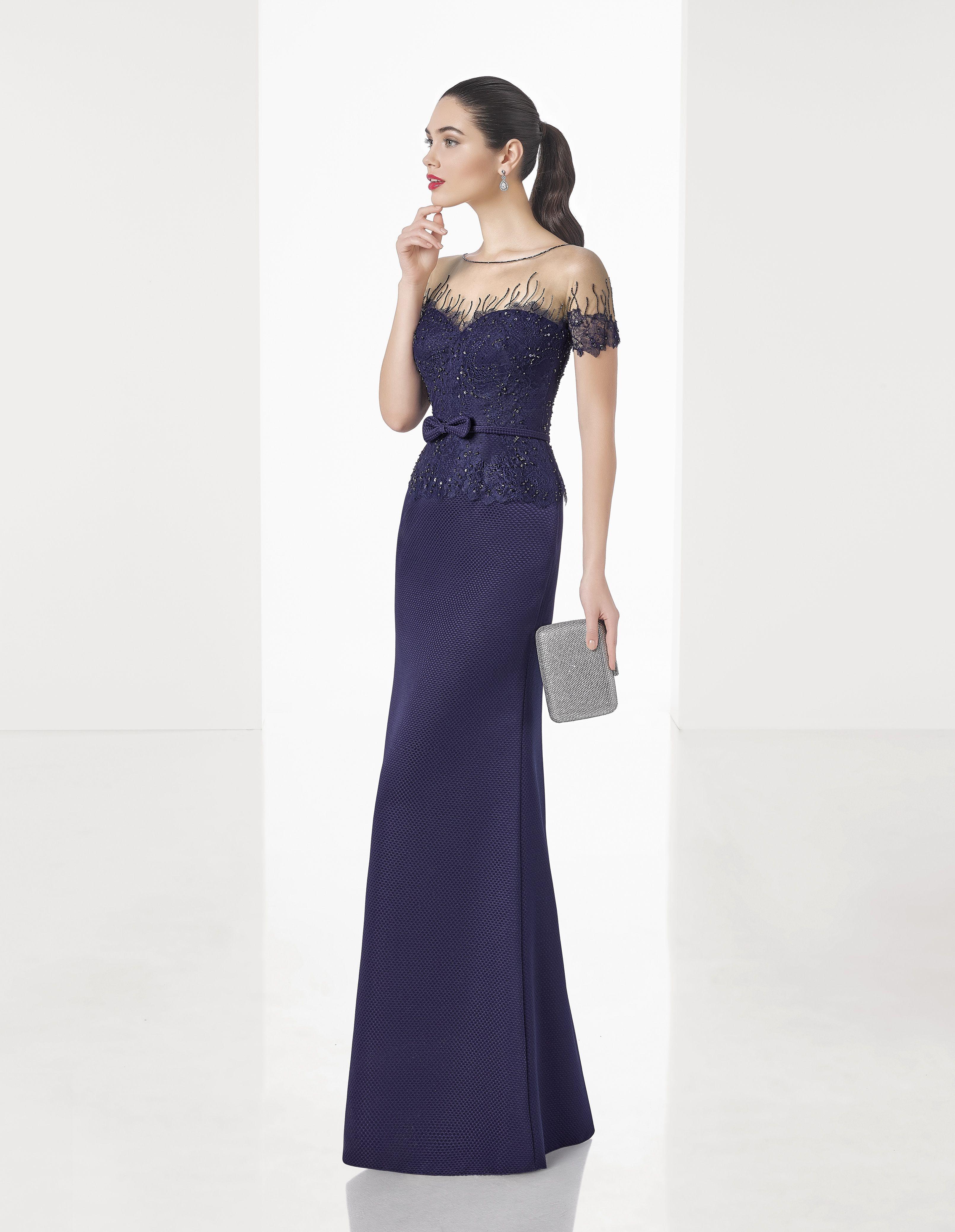Vestido de Fiesta de Rosa Clará (1T1C9), colección elegance, largo ...