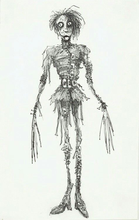 Tim Burton Edward Scissorhands Concept Sketch With Images Tim