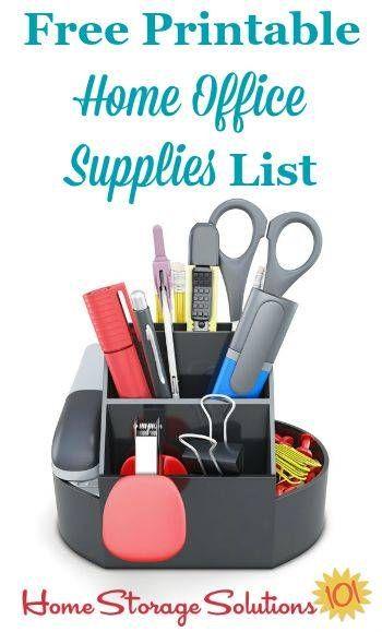 Printable Office Supply List Free Printable Home Office Supplies List  Home Office  Pinterest .