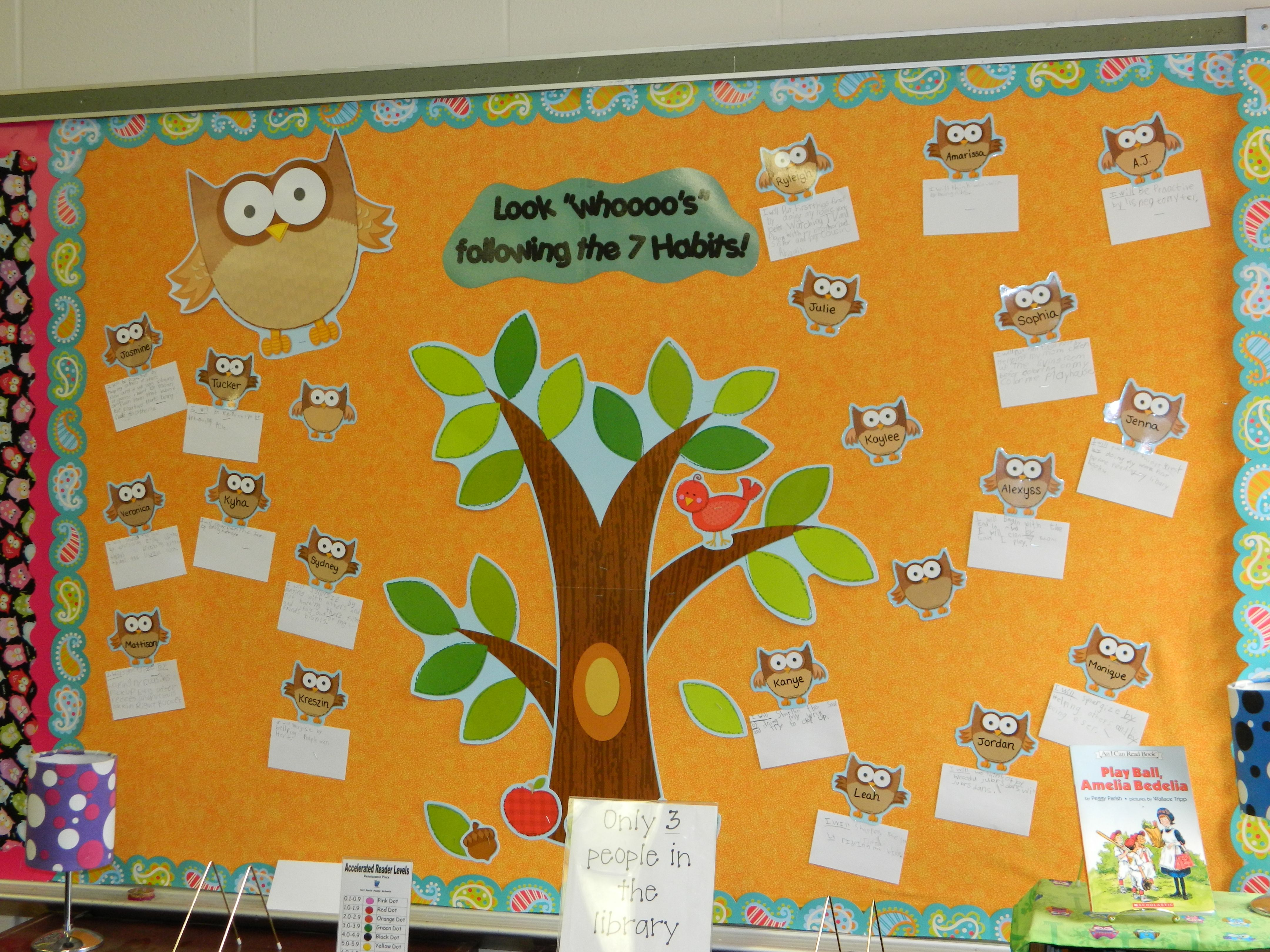 7 Habits Display Above The Class Library Each Student