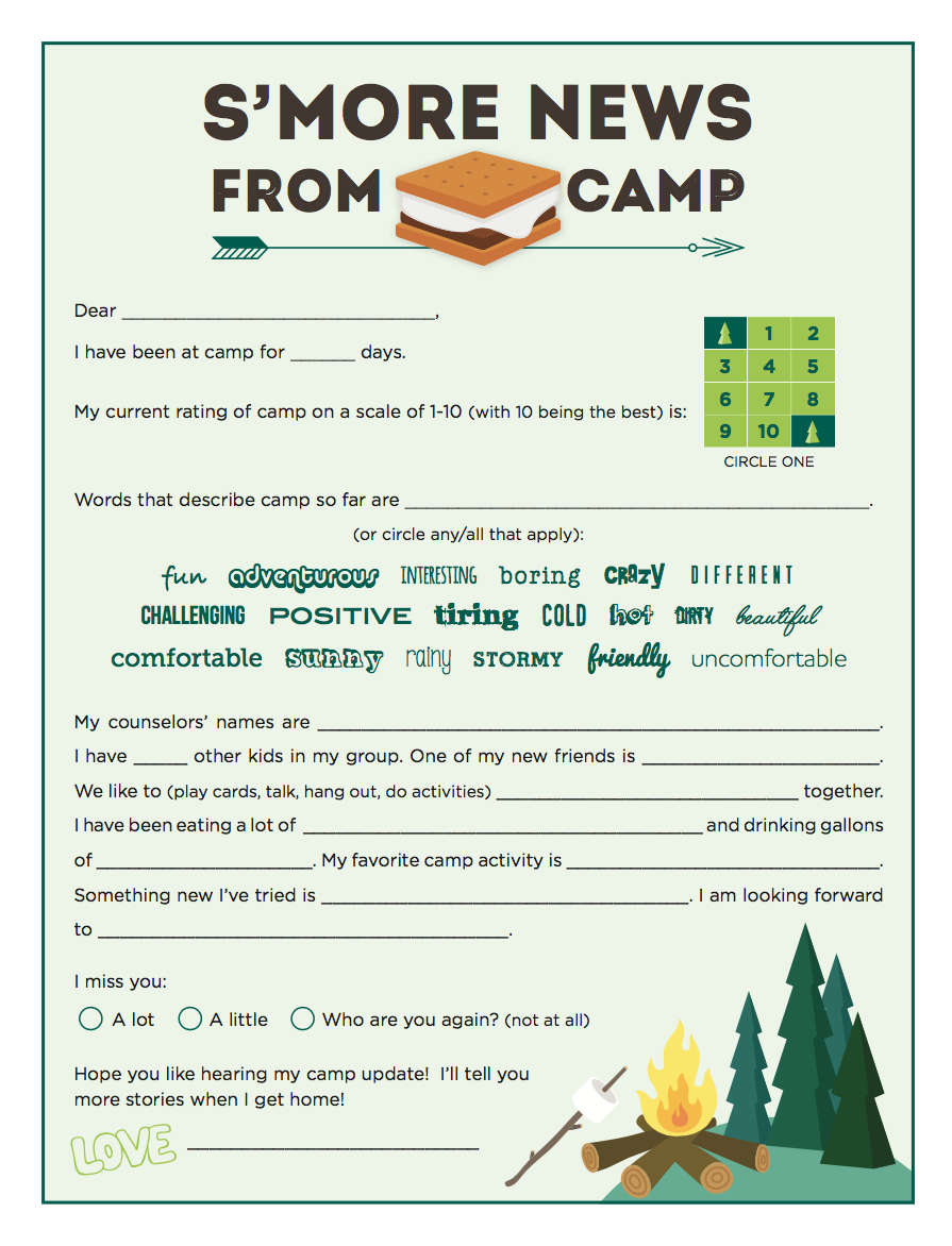5 Fun Ideas for Letters to Campers | Camp letters, Letters ...