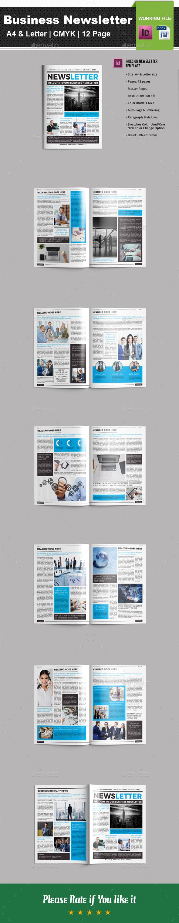 Business Newsletter V01 Newsletter Templates Template And Print