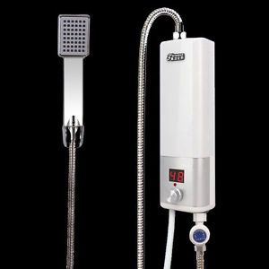 240V Portable Tankless Electric Hot Water System Water Heater Shower Set  Bath