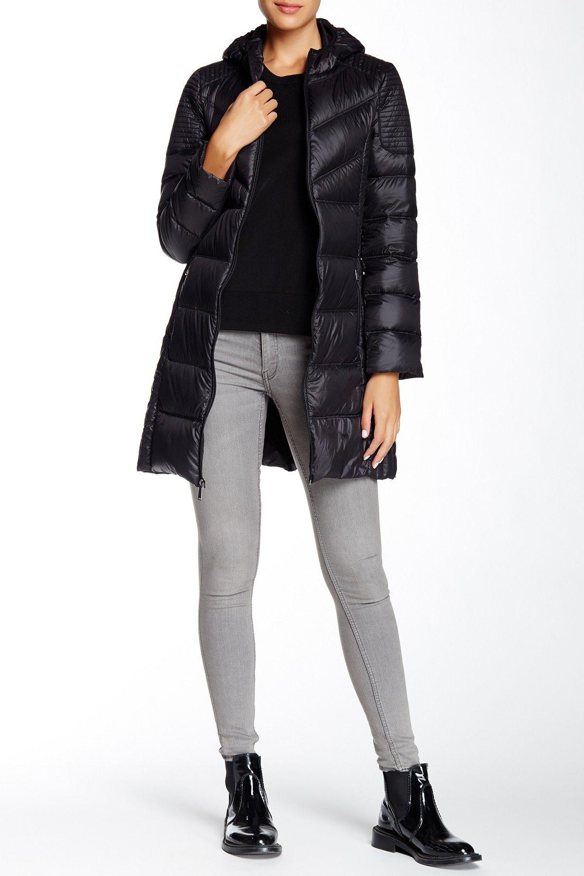 Bcbgeneration Missy Packable Hooded Jacket Nordstrom Rack Jackets Hooded Jacket Women S Puffer [ 1800 x 1200 Pixel ]