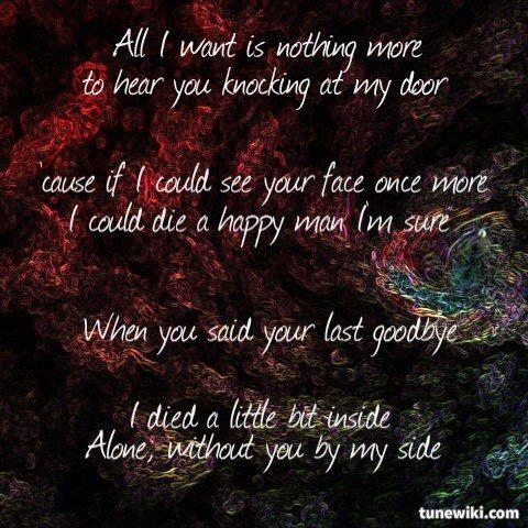 Kodaline All I Want Lyrics Art Lyricart For All I Want By