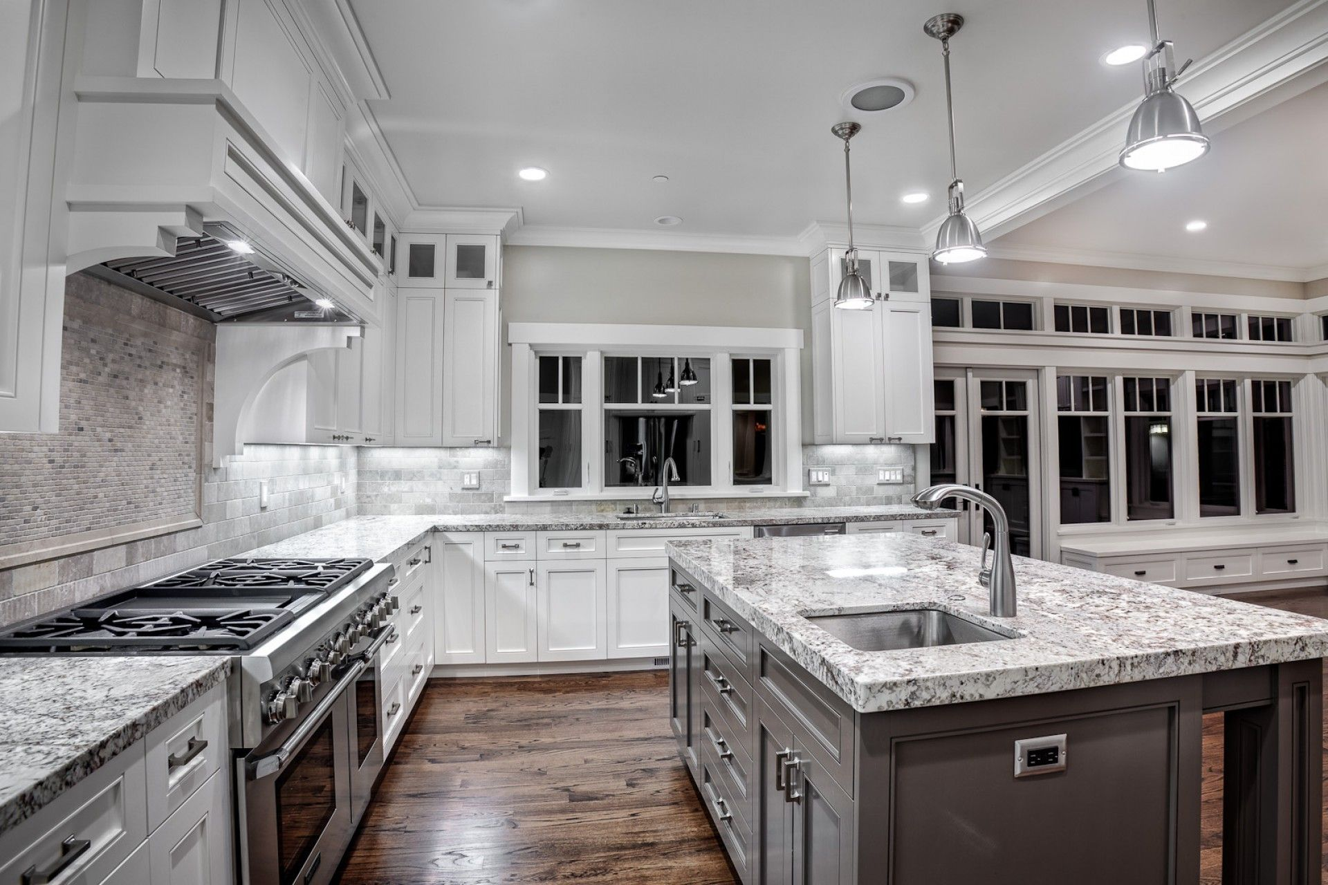 kitchen colors with white cabinets and blue countertops deck