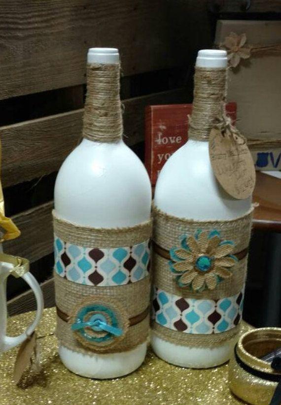 Bottle Decorations Wine Bottle Decor Rustic Vases Rustic Homerustynaildecor1  To