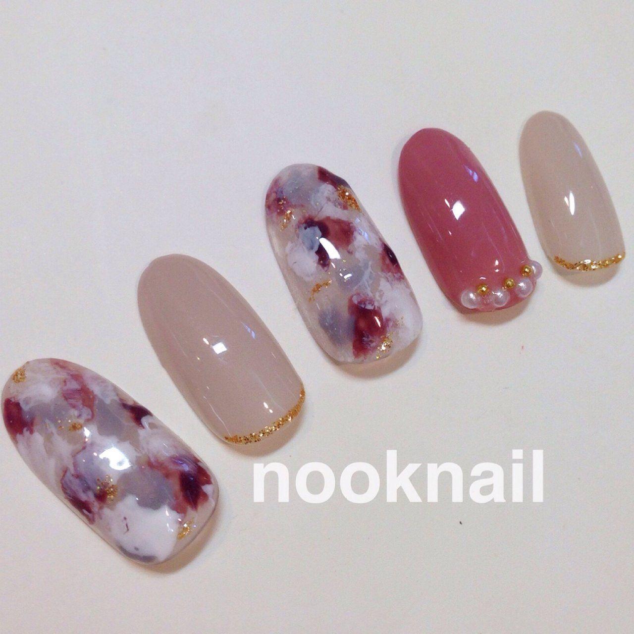 秋/オフィス/女子会/ハンド/ワンカラー , nooknailのネイル