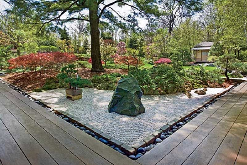 Japanese Rock Gardens And Zen Design Garden Combination Ideas With