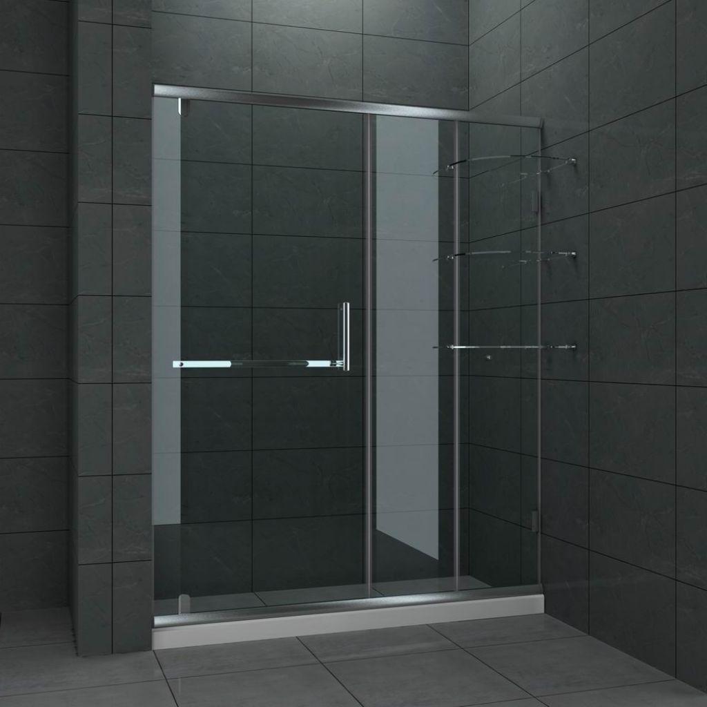 Sliding Frameless Glass Shower Door With A Modern Design And An