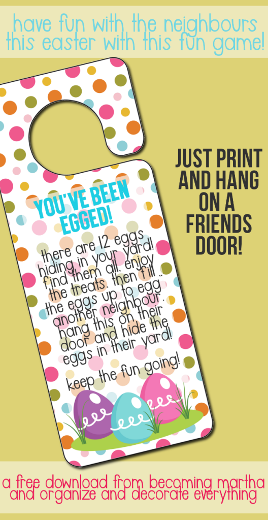 photo regarding You've Been Booed Printable Pdf identified as Youve Been Egged Printable Neat Easter, Easter