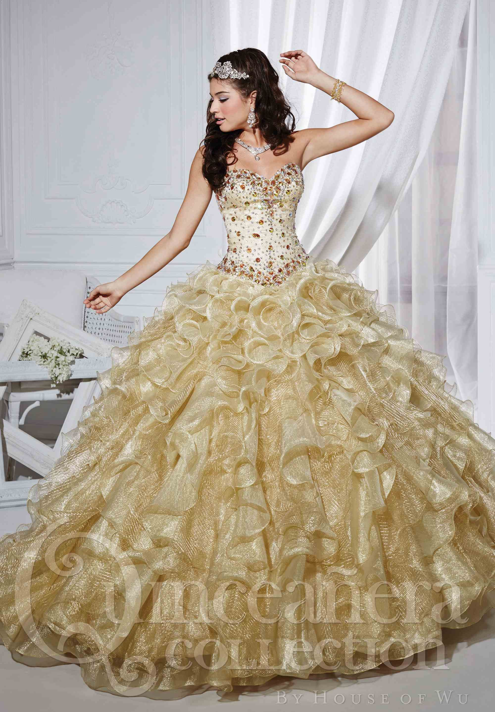 0c5b411394 pink and gold quinceanera dresses - Google Search