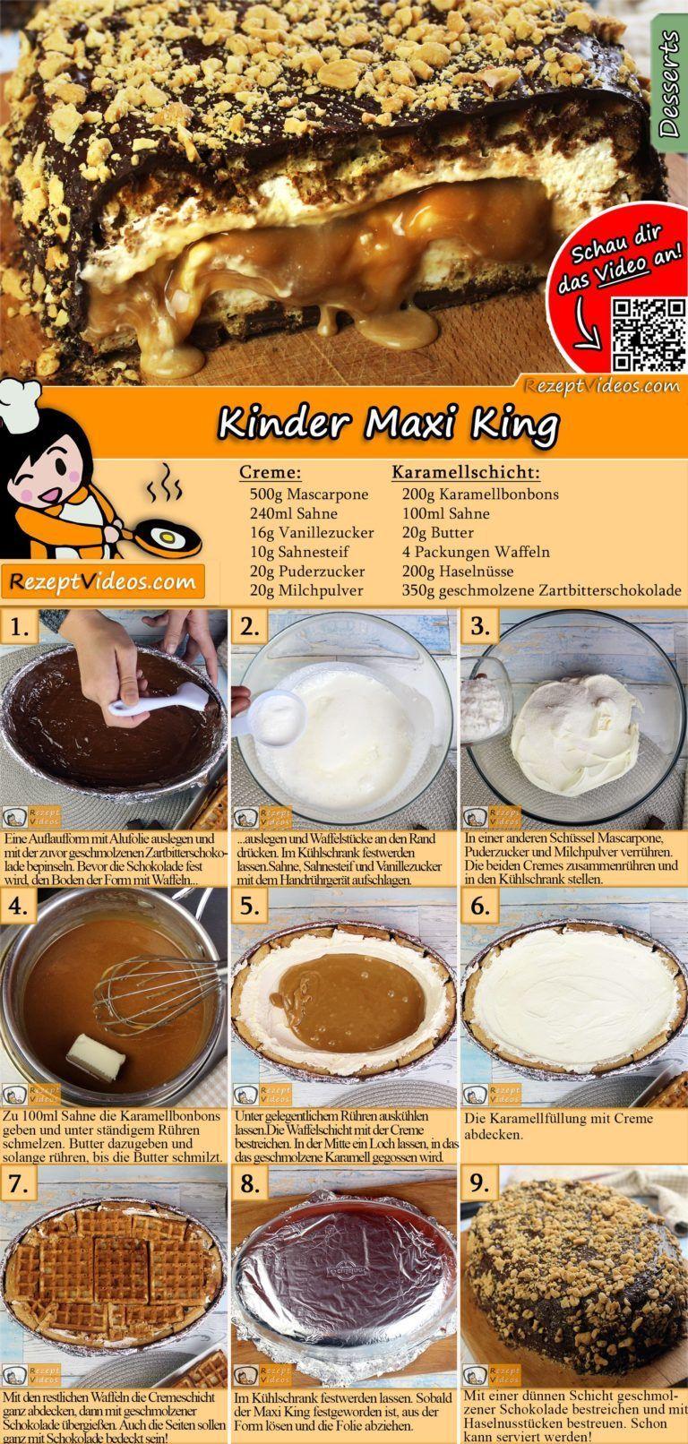 kinder maxi king rezept