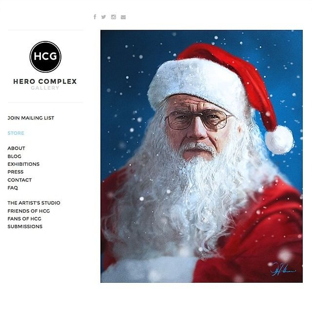 The Art Of John Aslarona Walter White Breaking Bad Bad Santa