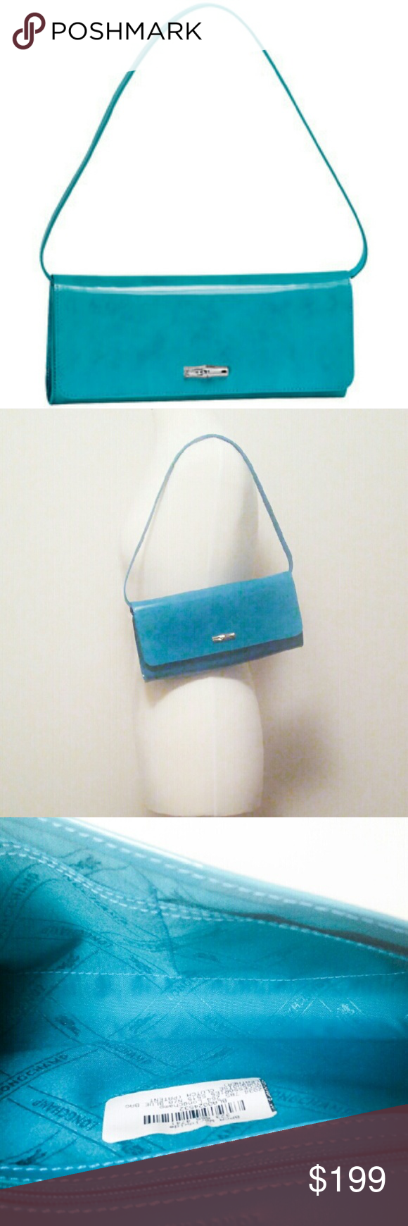 1d76d7edbed Longchamp Roseau Turquoise Aquamarine Bag New with tags! Rare! This is the